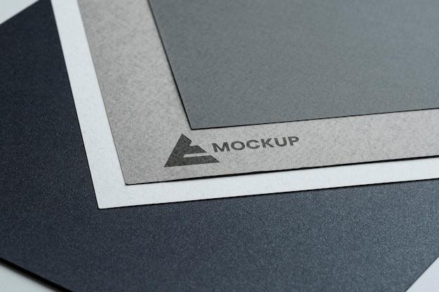 Logo de maquette entreprise abstraite