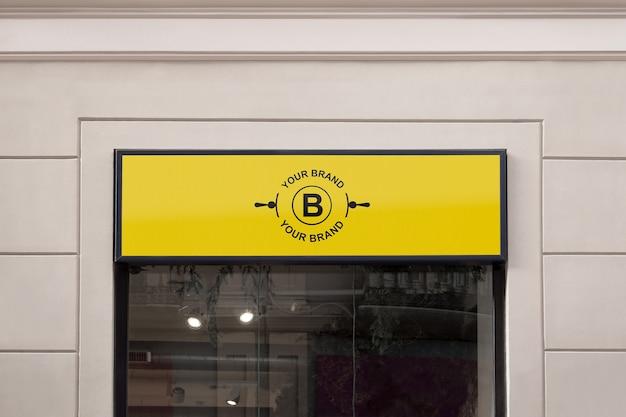 Logo maquette en façade ou en vitrine