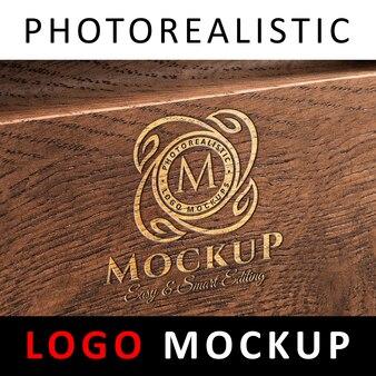 Logo maquette - logo gravé sur panneau de bois