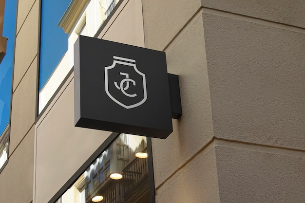 Logo maquette signe noir moderne