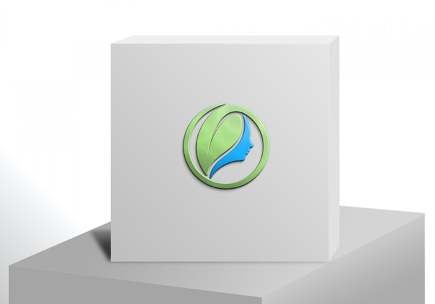 Logo maquette white box luxury