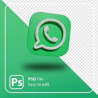 Logo minimal de rendu 3d whatsapp