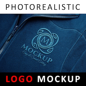 Logo mock up - logo brodé en tissu de sport brodé