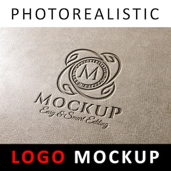 Logo mock up - logo gravé sur du béton