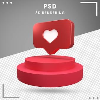 Logo rotatif 3d amour instagram