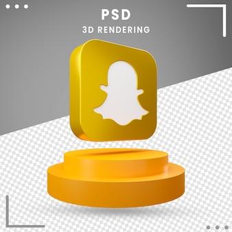 Logo rotatif 3d snapchat