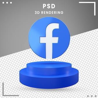 Logo de rotation 3d facebook isolé