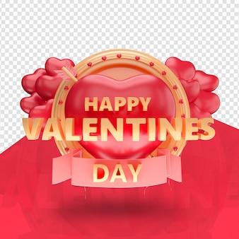 Logo de la saint-valentin heureux isolé