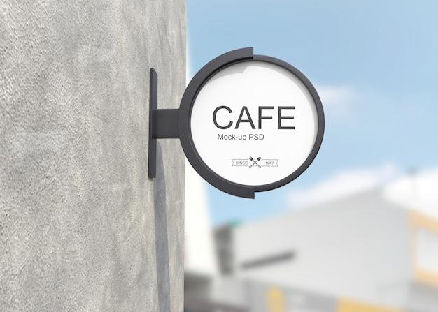 Logo de signe de magasin maquette