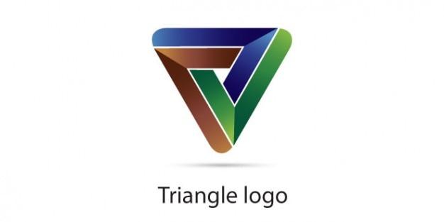 Logo de triangle en trois couleurs