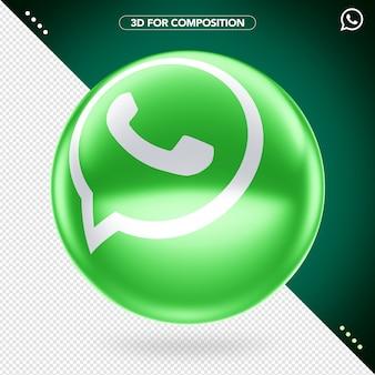 Logo whatsapp 3d