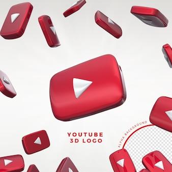 Logo youtube 3d