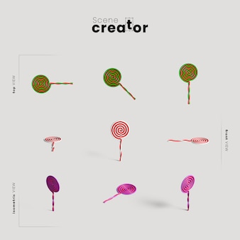 Lollipops variété d'angles créateur de scènes d'halloween