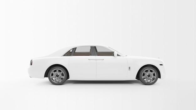 Longue voiture blanche