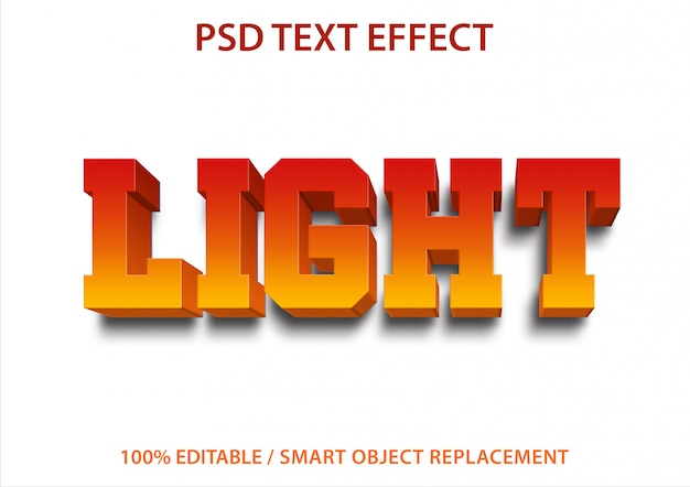 Lumière d'effet de texte modifiable
