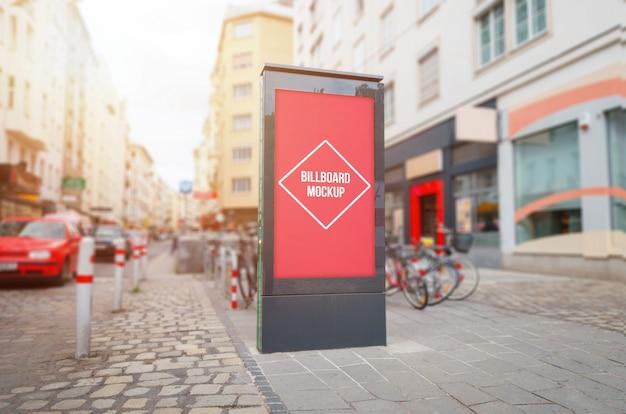 Lumière de la ville, maquette de panneau d'affichage vidéo sur rue.