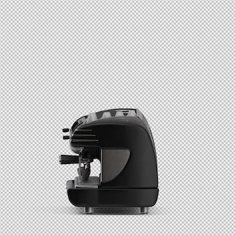 Machine à café isométrique 3d rendu isolé