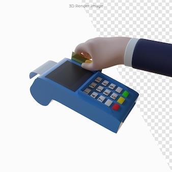 Machine de paiement 3d pour les achats des clients