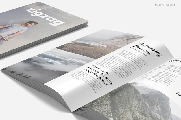 Magazine a4 gros plan