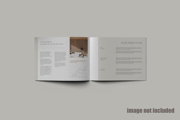 Magazine ou catalogue de paysage mocku