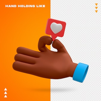 Main tenant comme la conception 3d emoji