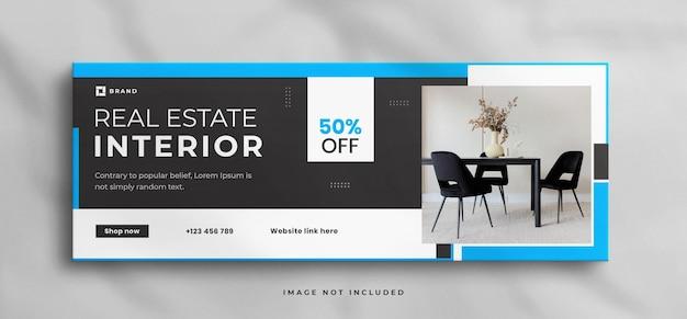 Maison intérieure moderne de rêve à vendre modèle de couverture de chronologie facebook immobilier