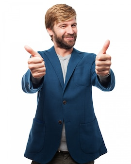 Man avec thumbs up