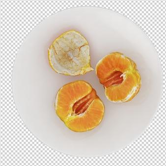Mandarine isométrique