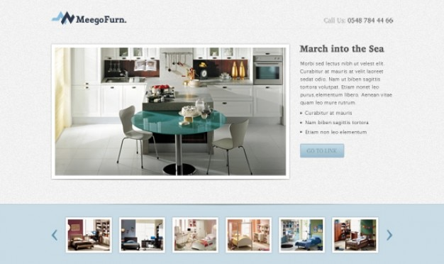 Manger page d'atterrissage chambre psd