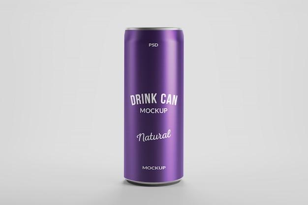 Maquette de 250 ml de boisson énergétique en aluminium peut l'emballage du produit