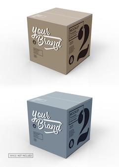Maquette 3d de boîte en carton fermée