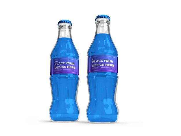 Maquette 3d de bouteille de boisson gazeuse