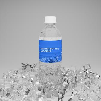 Maquette 3d de bouteille d'eau réaliste