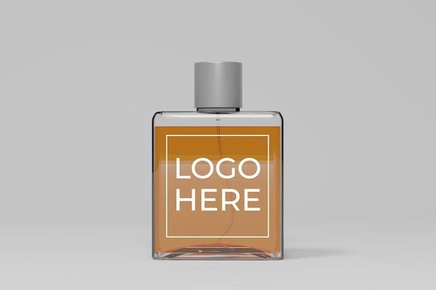 Maquette 3d de bouteille de parfum