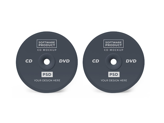 Maquette 3d cd de disque compact