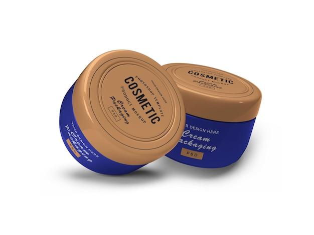 Maquette 3d de pot cosmétique crème