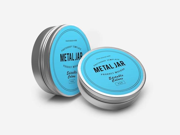 Maquette 3d de pot d'étain en métal
