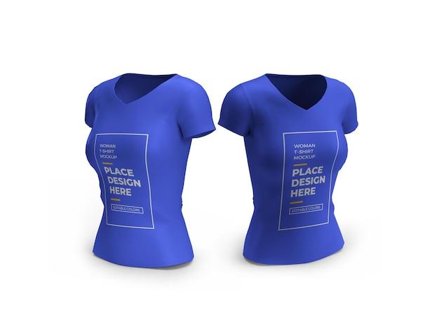 Maquette 3d de tshirt femme isolée