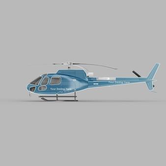 Maquette 3d vue latérale d'hélicoptère