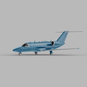Maquette 3d de vue semi-latérale avant de jet d'affaires léger