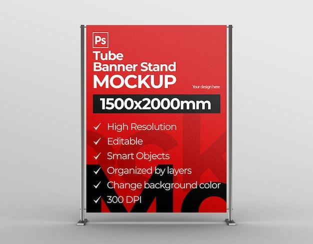 Maquette d'affichage de bannière pour l'exposition de marque et de publicité et de communication