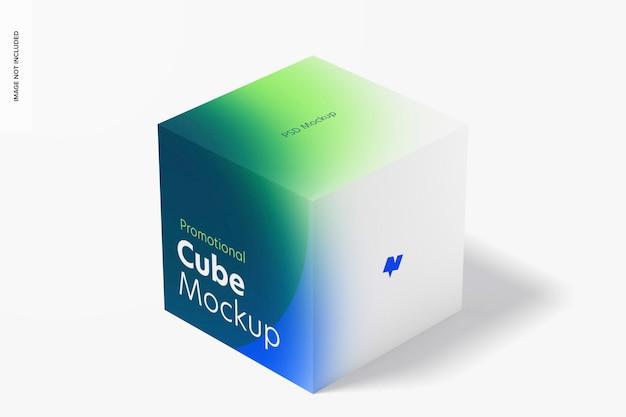 Maquette d'affichage de cube promotionnel
