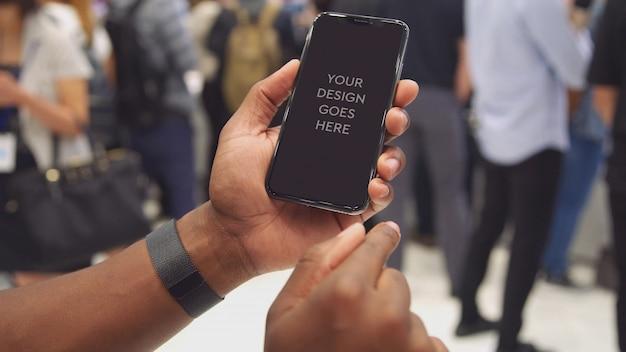 Maquette d'affichage du téléphone