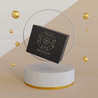 Maquette d'affichage d'emballage de bijoux