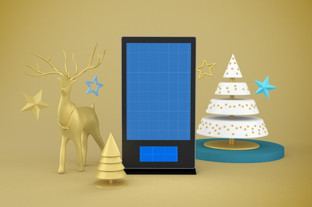 Maquette d'affichage numérique de noël