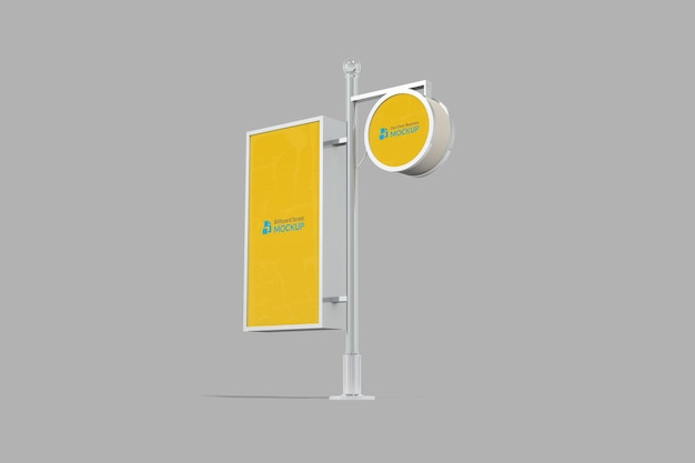 Maquette d'affichage de panneau d'affichage de rue à l'extérieur