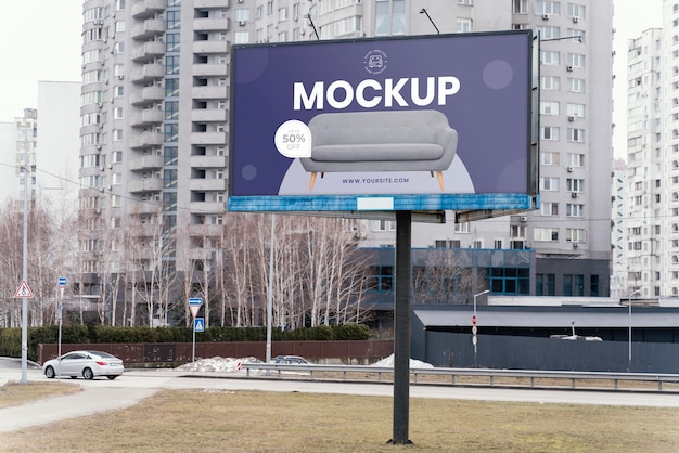 Maquette d'affichage de panneau d'affichage de rue