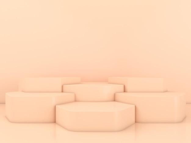 Maquette d'affichage de podium de forme géométrique