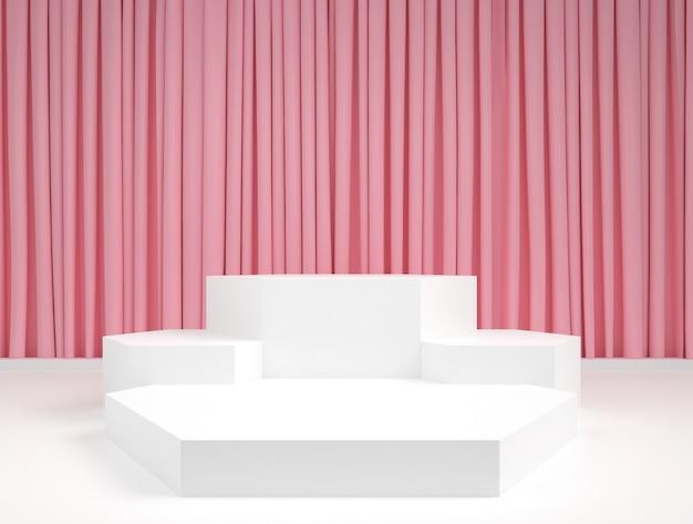 Maquette d'affichage de scène de podium minimal de couleur pastel de forme géométrique abstraite
