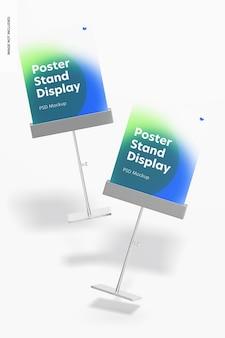 Maquette d'affichage de supports d'affiches métalliques, tombant